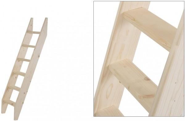 Intercon® Holzleiter mit 6 Stufen